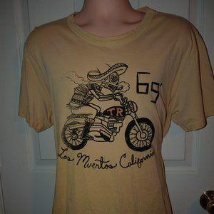 True Religion Tee Shirt Los Muertos California Tan